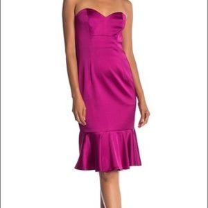 Trina Turk Greer Sweetheart Peplum Hem Dress